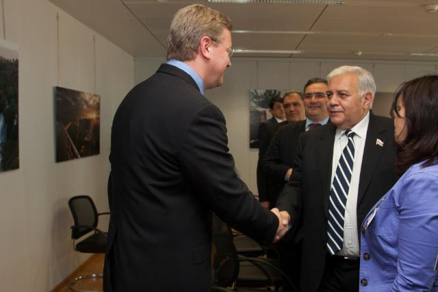 Visite d'Ogtay Asadov, président de l'Assemblée nationale de l'Azerbaïdjan, à la CE