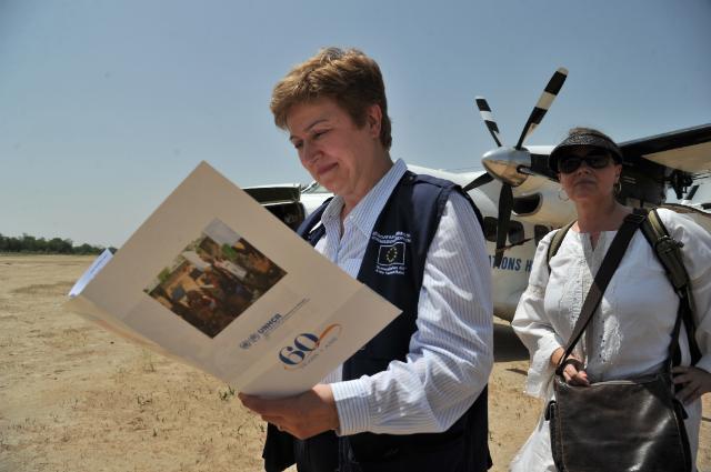 Visite de Kristalina Georgieva, membre de la CE, au Tchad