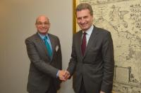 Visit of Julian Kinderlerer, President of the EGE, to the EC