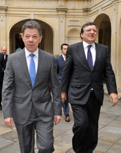 Visit of José Manuel Barroso, President of the EC, to Colombia