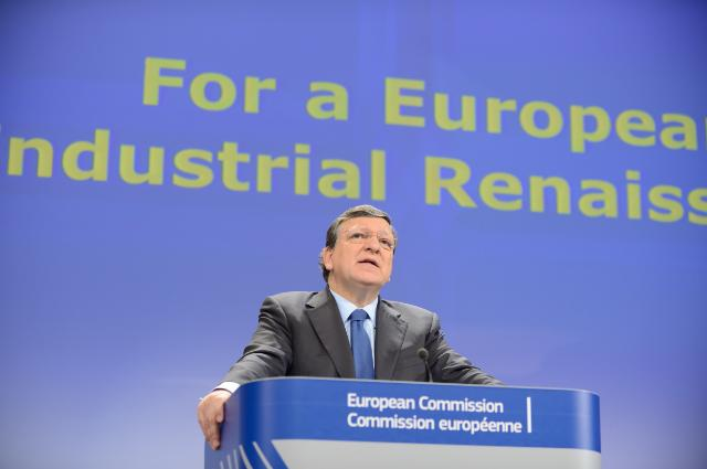 Joint press conference by José Manuel Barroso, President of the EC, and Antonio Tajani, Vice-President of the EC, on the adoption of a Communication 'For a European Industrial Renaissance'