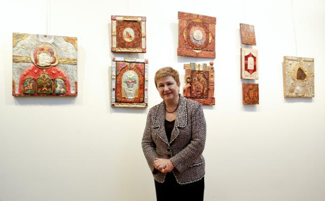 Vernissage de l'exposition 'Racines spirituelles' organisée à Bruxelles, avec la participation de Kristalina Georgieva, membre de la CE