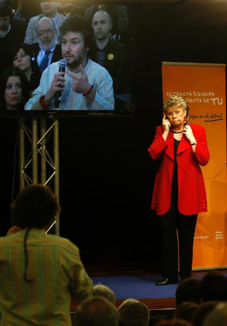 Citizens' Dialogue in Barcelona with Viviane Reding