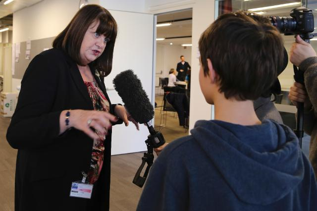 Participation of Máire Geoghegan-Quinn, Member of the EC, at the event 'Think Big', organised at the International School of Brussels