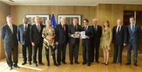 "Illustration of ""Presentation of the Declaration and Call to Action 'A new Atlantic Community' to José Manuel Barroso,..."