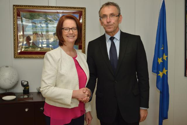 Visit of Julia Gillard, Chair of the Board of Directors of the Global Partnership for Education, to the EC