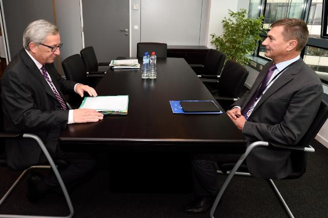 Meeting between Andrus Ansip, Member of the EP, and Jean-Claude Juncker, President-elect of the EC