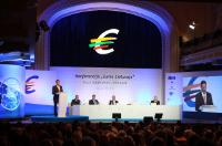 """Illustration of """"Participation of Jyrki Katainen, Vice-President of the EC, in the Euro-launch Conference """"Single Market,..."""