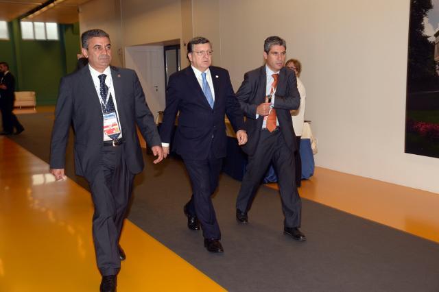 Visite de José Manuel Barroso, président de la CE, en Italie