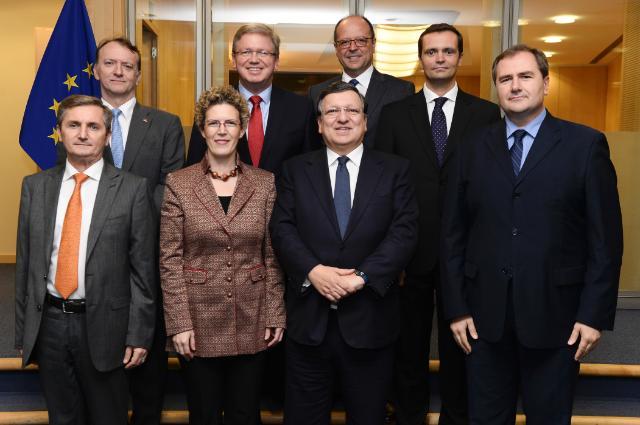 Visite des chefs de missions de pays des Balkans occidentaux à la CE