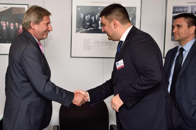 Visit of Volodymyr Hroisman, Ukrainian Vice-Prime Minister and Minister for Regional Development, Construction, Housing and Communal Services, and Pavlo Klimkin, Ukrainian Minister for Foreign Affairs, to the EC