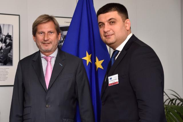 Visite de Volodymyr Hroisman, vice-Premier ministre ukrainien et ministre du Développement régional, de la Construction, du Logement et des Services communaux, et Pavlo Klimkin, ministre ukrainien des Affaires étrangères, à la CE