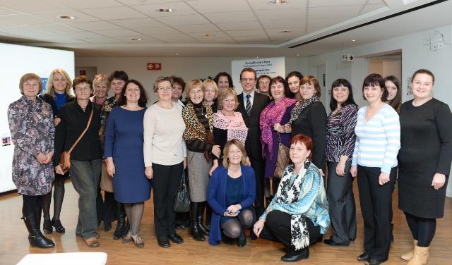 Algirdas Šemeta receives a group of Lithuanian librarians