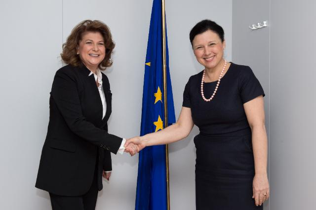 Visit of Rovana Plumb, Romanian Minister for Labour, Family, Social Protection and Elderly, to the EC