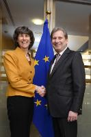 """Illustration of """"Visit of Laura Tuck, Vice-President for Europe and Central Asia of the World Bank, to the EC"""""""