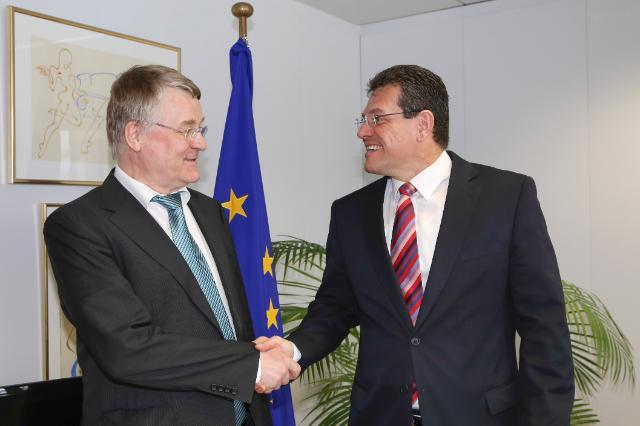 Visite de Markku Markkula, président du CdR, à la CE