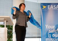 """Illustration of """"Visit of Violeta Bulc, Member of the EC, to the headquarters of the EASA in Cologne"""""""