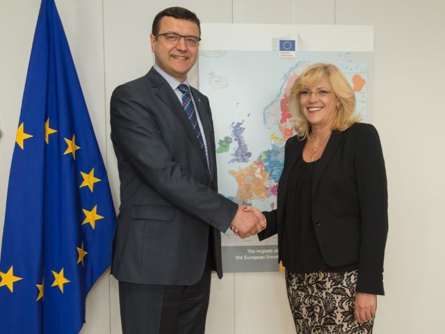 Visite de Jānis Reirs, ministre letton des Finances, à la CE