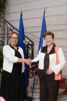 Visit by Kristalina Georgieva, Vice-President of the EC, to Paris