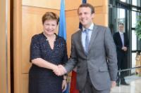 Visite de Kristalina Georgieva, vice-présidente de la CE, à Paris