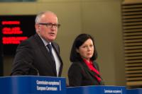 Joint press conference by Frans Timmermans, Vice-President of the EC, and Vĕra Jourová, Member of the EC, ahead of the first Annual Colloquium on Fundamental Rights
