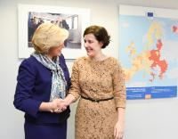 Visit of Dana Reizniece-Ozola, Latvian Minister for Economics, to the EC