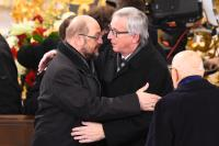 Participation of Jean-Claude Juncker, President of the EC, in the State Funeral of Helmut Schmidt in Hamburg