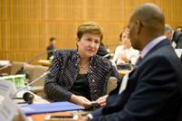 Visite de Kristalina Georgieva, vice-présidente de la CE, en France