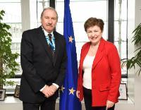 Visite de Michael Smyth, vice-président chargé du Budget du CESE, et Luis Planas Puchades, secrétaire général du CESE, à la CE