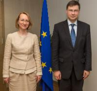 Visit of Dace Melbārde, Latvian Minister for Culture, to the EC