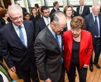 Participation de Kristalina Georgieva, vice-présidente de la CE, et Neven Mimica, membre de la CE, à une réunion avec Jim Yong Kim, président de la Banque mondiale, et Ban Ki-moon, secrétaire général des Nations unies