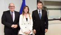 Visit of Maria Elena Boschi, Italian Minister for Constitutional Reforms and Relations with Parliament, to the EC