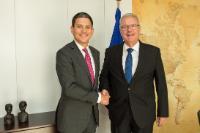Visite de David Miliband, président et PDG du Comité international de secours, à la CE