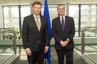 Visite de François Villeroy de Galhau, gouverneur de la Banque de France, à la CE