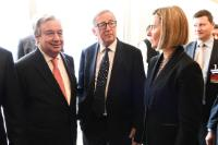 Participation of Jean-Claude Juncker, President of the EC, and Federica Mogherini, Vice-President of the EC, in the Conference on Cyprus