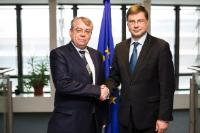 Visit of Klaus-Heiner Lehne, President of the European Court of Auditors, to the EC