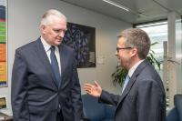 Visite de Jarosław Gowin, vice-président du Conseil des ministres polonais et ministre polonais de la Science et de l'Enseignement supérieur, à la CE
