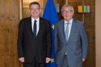 Visite de Jean-Claude Juncker, président de la CE, à Strasbourg