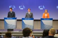 Joint press conference by Jyrki Katainen, Vice-President of the EC, and Elżbieta Bieńkowska, Member of the EC, on actions taken and next steps to implement the 2016 Joint Framework on countering hybrid threats