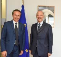 Visite de Christophe Rouillon, membre du Comité des régions, à la CE