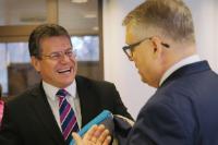 Visite de Maroš Šefčovič, vice-président de la CE, en Finlande