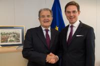 Visit of  Romano Prodi, Chairman of the High Level Task Force on Social Infrastructure and former President of the EC, to the EC