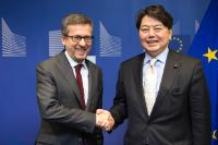 Visit of Yoshimasa Hayashi, Japanese Minister for Education, Culture, Sports, Science and Technology, to the EC