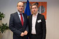 Visit of François Germinet, President of the University of Cergy-Pontoise, to the EC