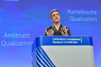 Press conference by Margrethe Vestager, Member of the EC: EC fines Qualcomm €997 million for abuse of dominant market position