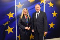 Visit of Melanie Huml, Bavarian Minister of State for Health and Care, to the EC
