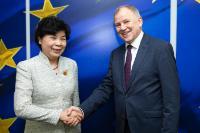 Visite de Cui Li, vice-ministre de la Commission nationale chinoise de la santé et de la Planification familiale, à la CE.