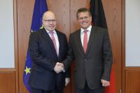 Visit by Maroš Šefčovič, Vice-President of the EC, to Germany