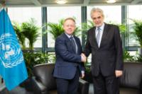 Bilateral meeting between Christos Stylianides, Member of the EC, and Ciarán Cannon, Irish Minister of State for the Diaspora and International Development