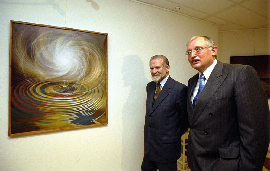 Exposition of Polish art  in the office of Günter Verheugen, member of the EC
